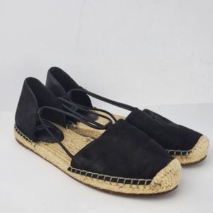 Eileen Fisher Black Suede Lee Espadriles Flats